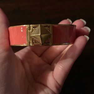 Kate spade enamel bracelet bangle coral